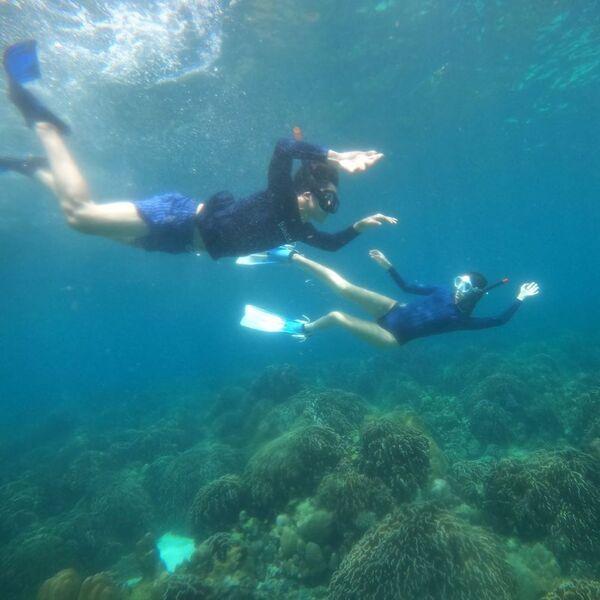เก้า จิรายุ – วี วิโอเลต ดำน้ำ